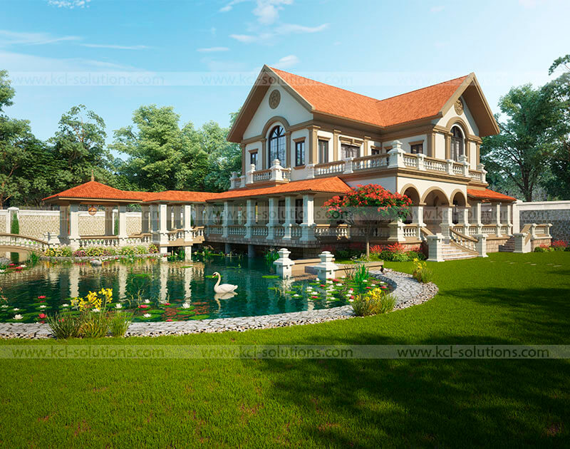 Traditional Pool View Design