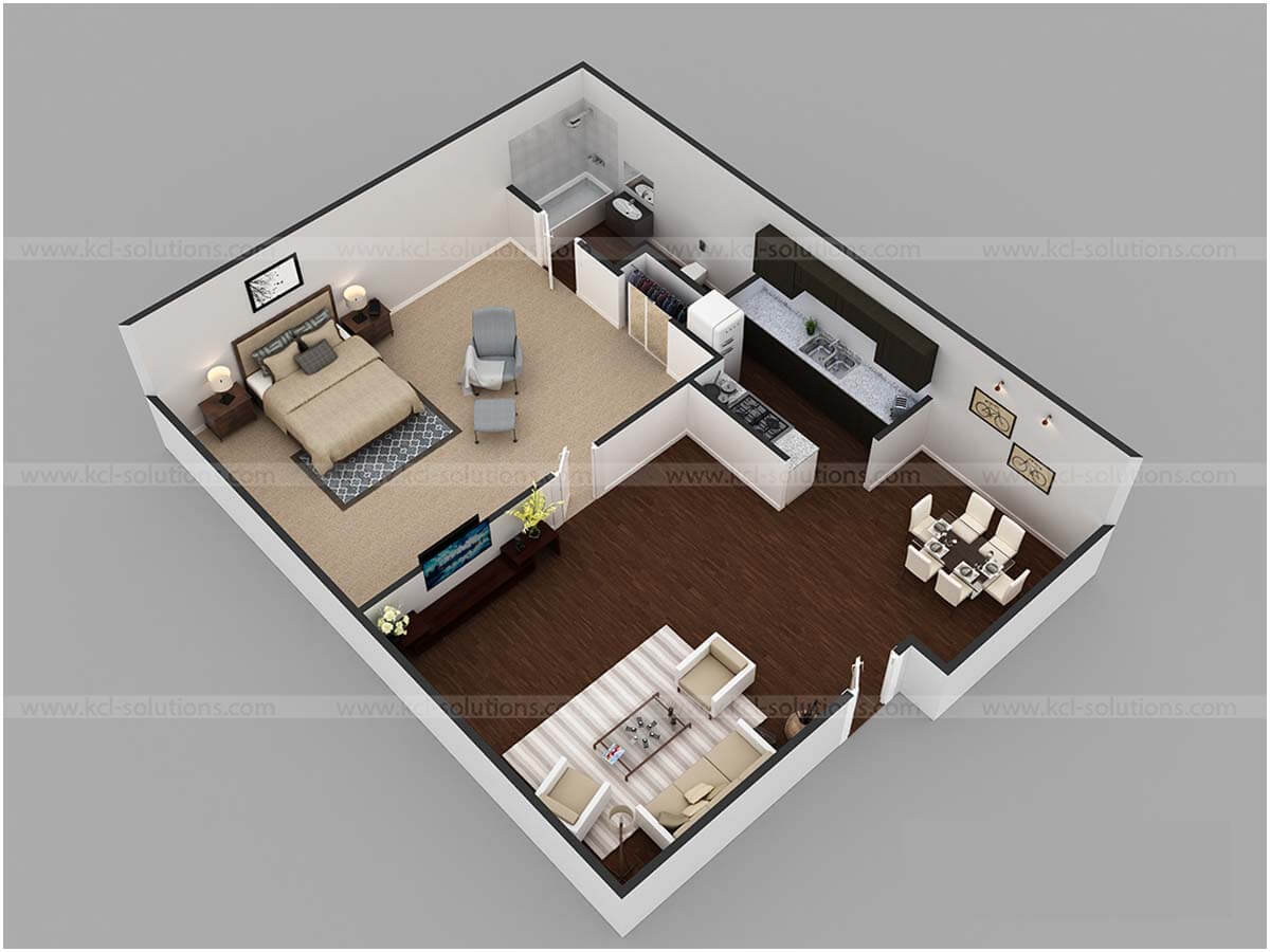 Floor Plan 3D Luxurious Home