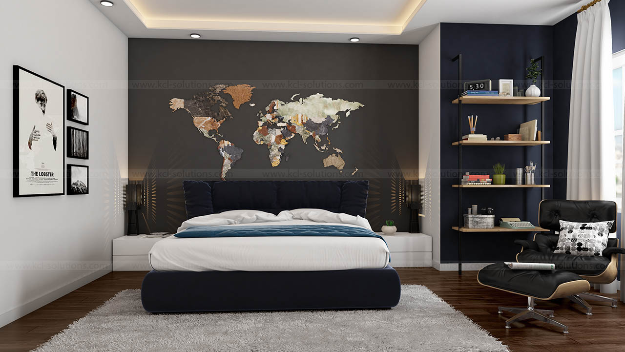 3d modern bedroom design - Interior Designer Usa