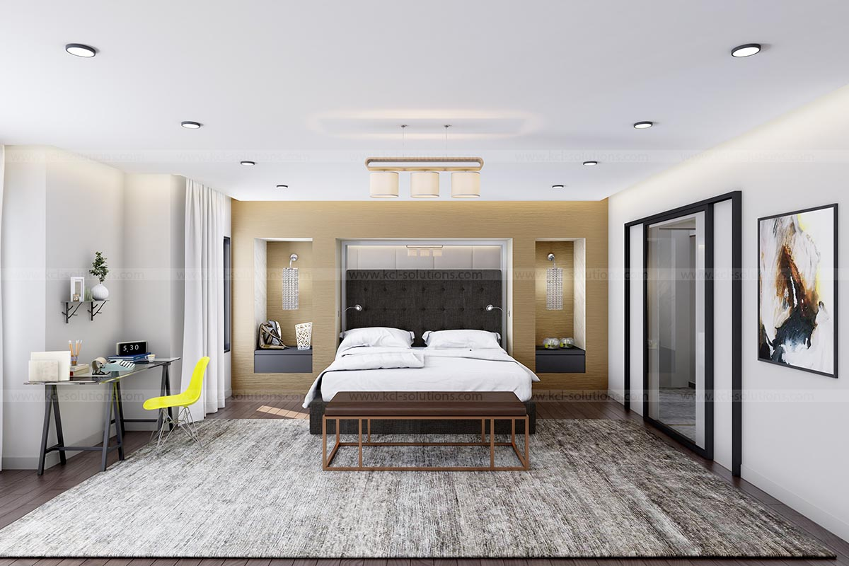 3D Modern Bedroom Interior Design