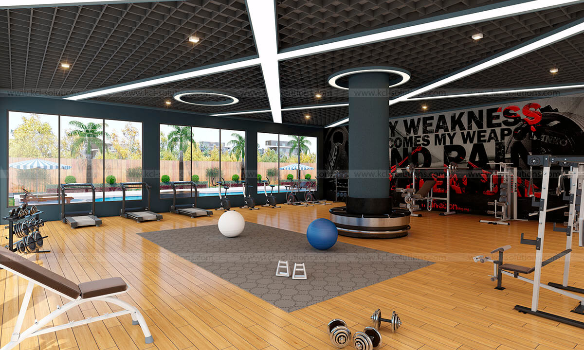 Gym Interior 3D Design