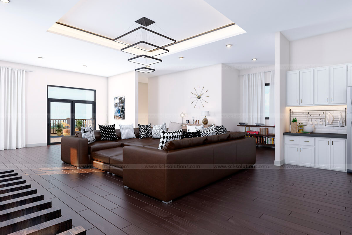 Residential Building Living Room Design